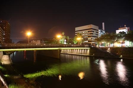 甲突川 夜景2