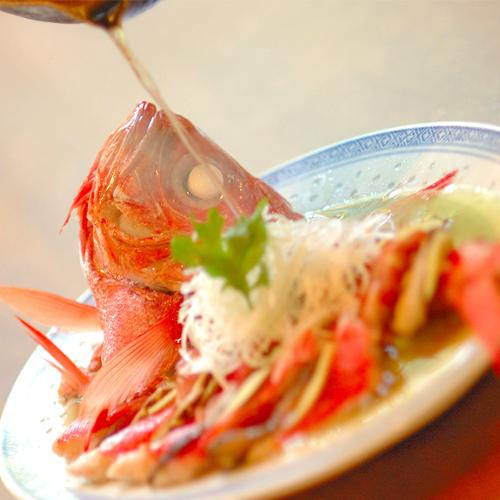 【金目鯛の清蒸】伊東港水揚げの新鮮な金目鯛を旨味を逃さず高温のセイロで蒸した逸品!◆別注料理◆