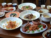 2018-19 夕食W伊勢海老コースの一例