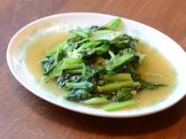 地物野菜の青菜炒め
