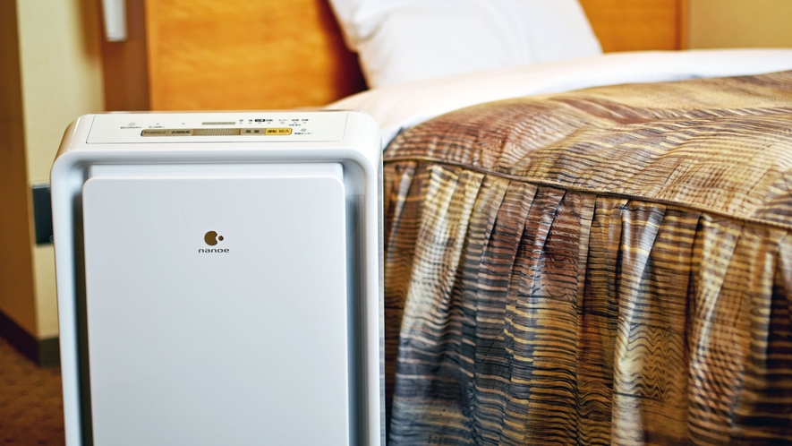 【客室】全室に空気清浄機を設置いたしました