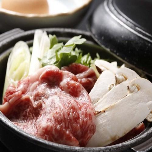 松茸と飛騨牛すき焼き