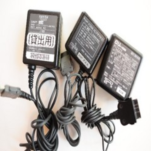 貸出用各社携帯充電器