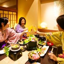■食事処旬  旬の和風会席をみんなで楽しく味わおう!