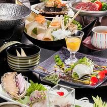 旬のお刺身や陶板焼きもついた☆和風会席☆お料理イメージ
