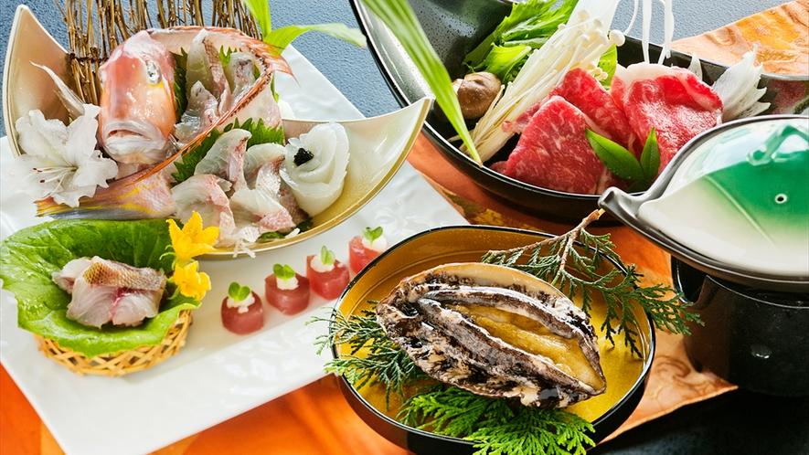 日本海を一望できる当館では、もちろん新鮮で美味しい【海の幸】をお客様のもとへ届けます♪
