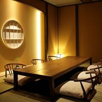 【和食処・越後・本館1F】落ち着いた雰囲気の中で、ゆったりと日本料理を楽しみたい方にお勧めです。