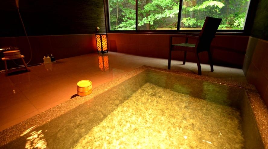 【貸切風呂・ヤタガラスの湯】丸い浴槽♪通常45分間2750円(税込)