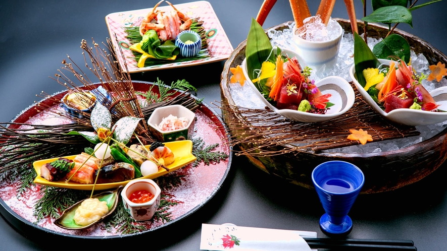 【加能蟹プレミアム】加能蟹・香箱蟹を堪能。刺し・蒸し・焼き・鍋で・釜炊の5種の味わいで極める