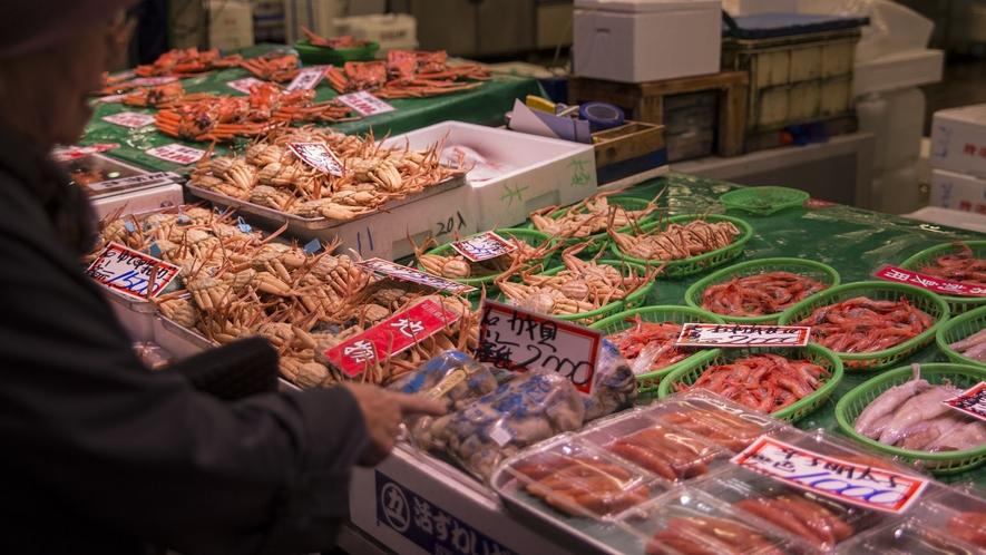 【金沢近江町市場】日本海の台所である近江町市場※当館から車で約60分程です