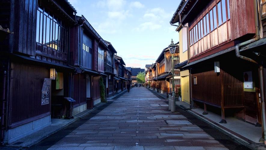 【金沢ひがし茶屋街】江戸時代の雰囲気を残した石畳の街並み※当館から車で約60分程です