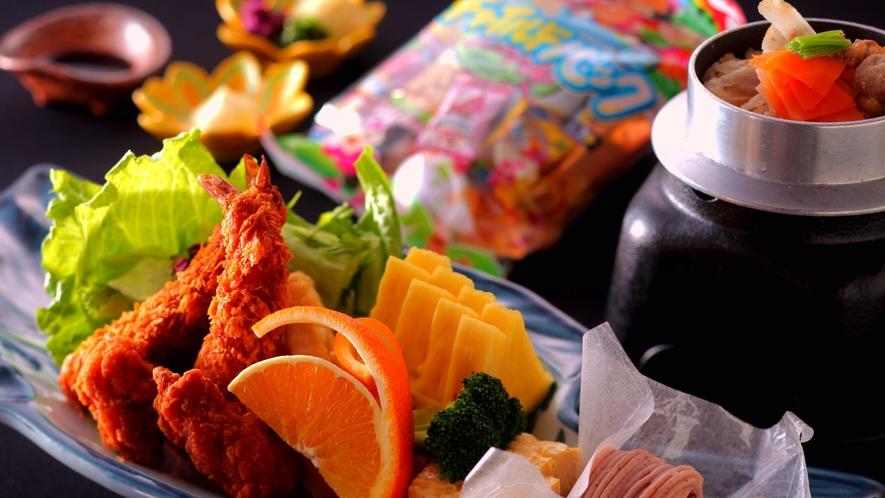 ★お菓子も果物もいっぱ~い♪「幼児のお子様ランチ」イメージ