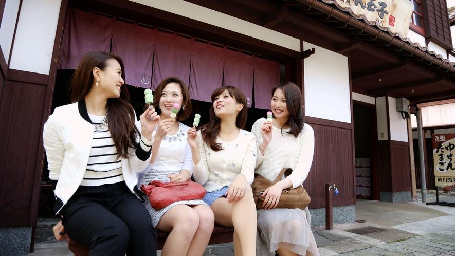 ★山代温泉【ゆせん玉子売場】温泉街の風情を、ぶらりお散歩で満喫♪