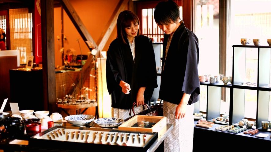 【はづちを楽堂】たまには2人で。。。九谷焼の里、山代温泉で、のんびりお買い物。
