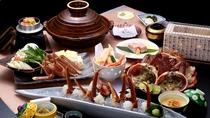 ★厳選蟹を「刺身と焼き蟹」だけで1杯使用【本格活蟹会席イメージ】