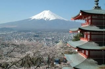 新倉山浅間公園と富士山