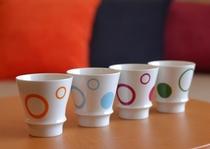 ホテルオリジナルの有田焼きマグカップ