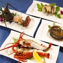【料理】コース料理(調理法選択・伊勢エビ&アワビ)