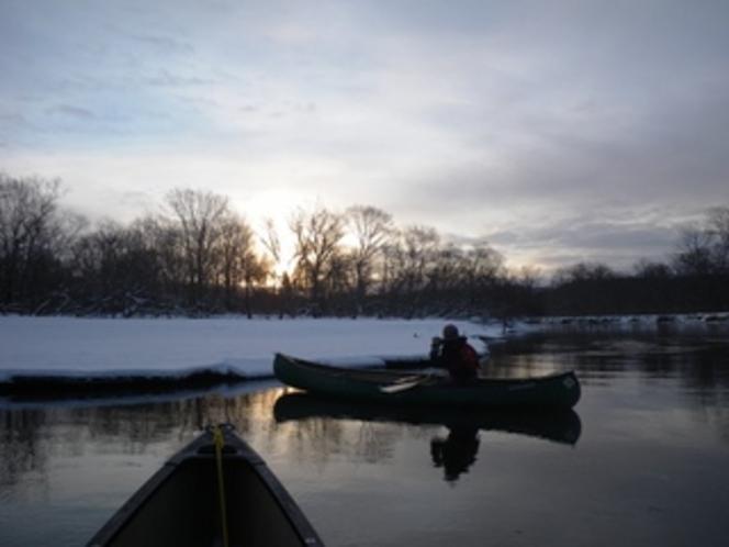 冬の釧路川ツアー