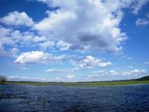 釧路湿原の本当に広い空