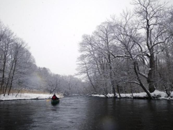 厳冬の釧路川源流ツアー