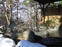 露天風呂冬景色