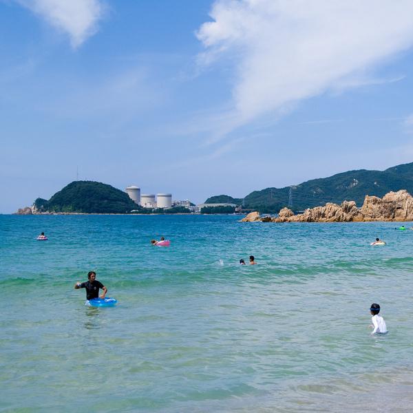 「日本の水浴場88選」に選ばれており、美しい海として有名で、毎年県内外から多くの海水浴客が訪れます♪