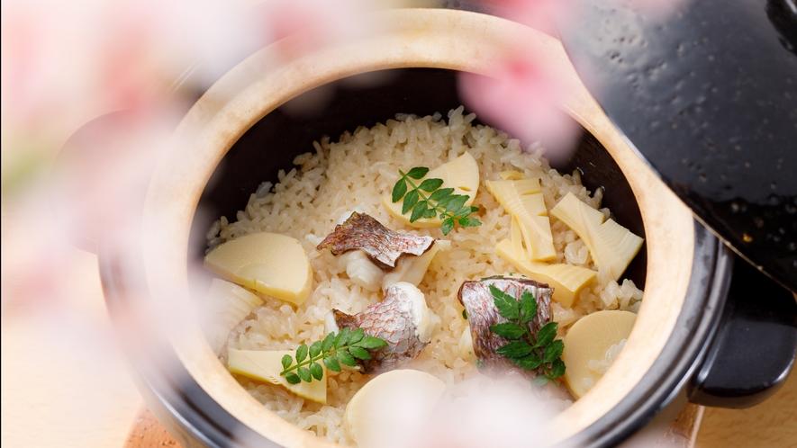 春特選季折会席:土鍋ご飯一例
