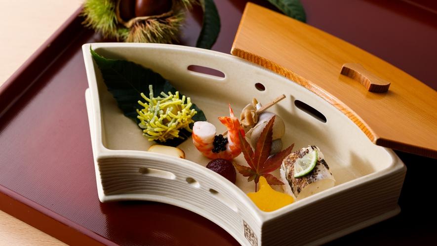 秋季折会席:前菜一例
