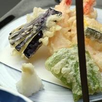 【夕食一例】旬の野菜天ぷら