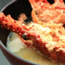 【夕食一例】伊勢海老味噌汁
