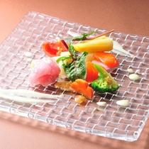 □メープルサーモンのひと皿