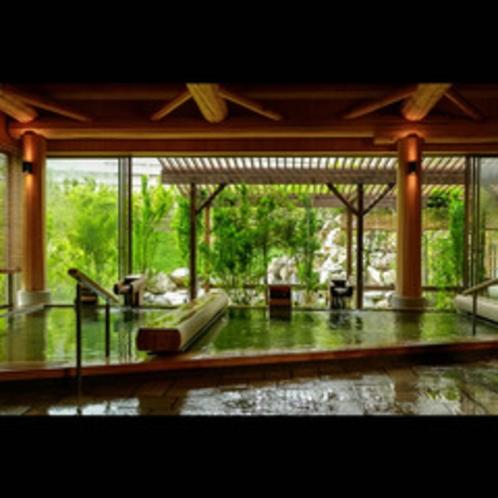 内風呂からの景色も素敵