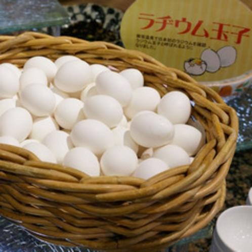 【朝食メニュー】飯坂温泉名物ラジウム卵