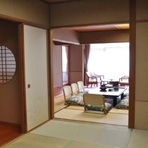 広々和室の大部屋(12.5畳+6畳)