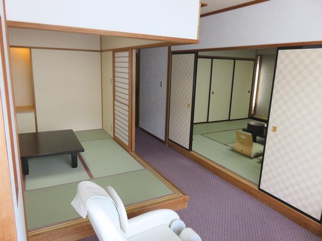 全室禁煙/次の間が付いた川側和洋室/12+6畳+ツイン