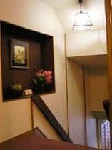 湯けむり亭階段