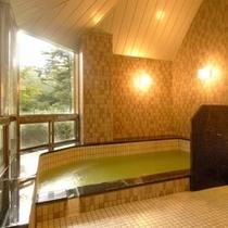 【大浴場*男湯「木漏日の湯」】豊かな自然のやすらぎとふれあえる健康空間