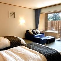 【欧スタイル/バリアフリー洋室ツイン+広緑】ヨーロピアンムードを感じる快適空間