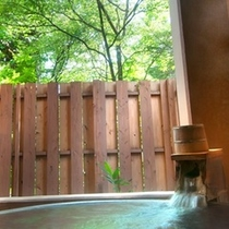 【欧スタイル/洋室ツイン】源泉かけ流しの露天風呂付き