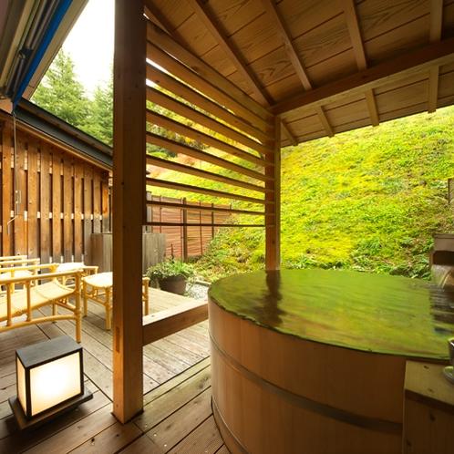 露天風呂付客室◆檜風呂