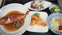 夕食(赤魚の煮付け)