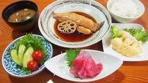 夕食(子持ちカレイの煮付け)