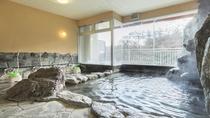 *【風呂(大浴場・女性)】塩の湯口が八ヶ所あることから八塩温泉と名づけられたそう・