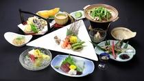 *【夕食(一例)】季節で一番美味しい食材を。栄養バランス抜群!