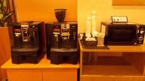 1階のロビーにウェルカムコーヒーと電子レンジがございます!