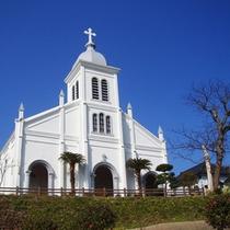 【大江天主堂】丘の上に建つ白亜の教会は天草のキリシタン文化を今に伝えます