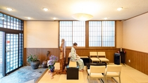 琉球畳のロビー