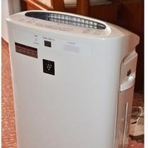 「全客室完備の加湿空気清浄機」