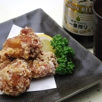 夕食「鶏の和風唐揚げ」